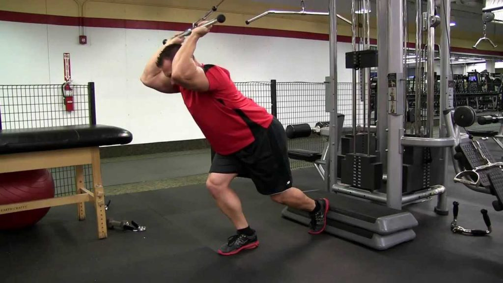 Standing Overhead Cable Triceps Extension