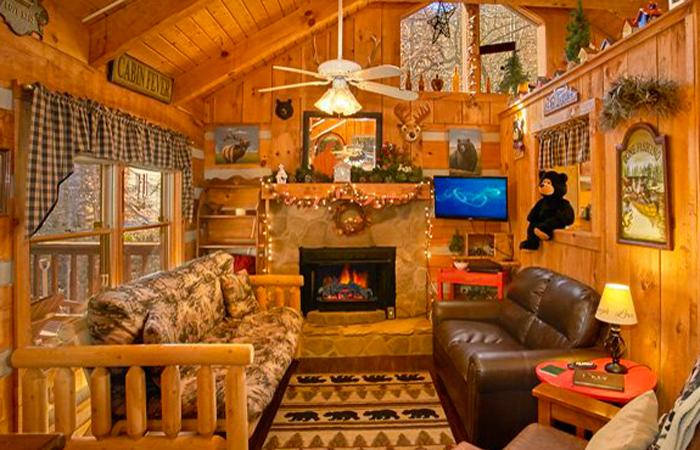 Christmas cabin getaway