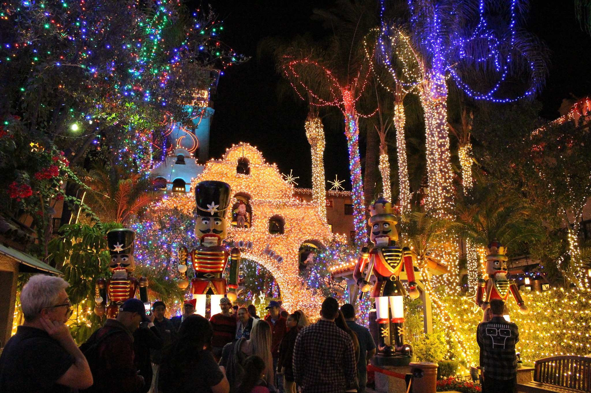Christmas lights gazing