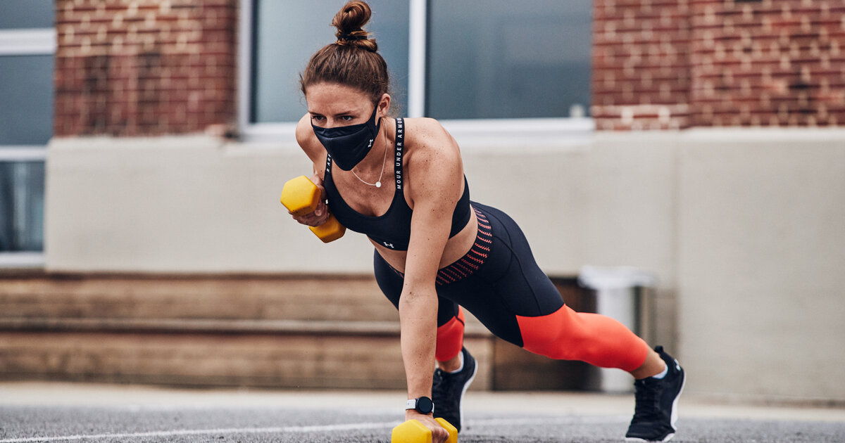 exercising in face mask